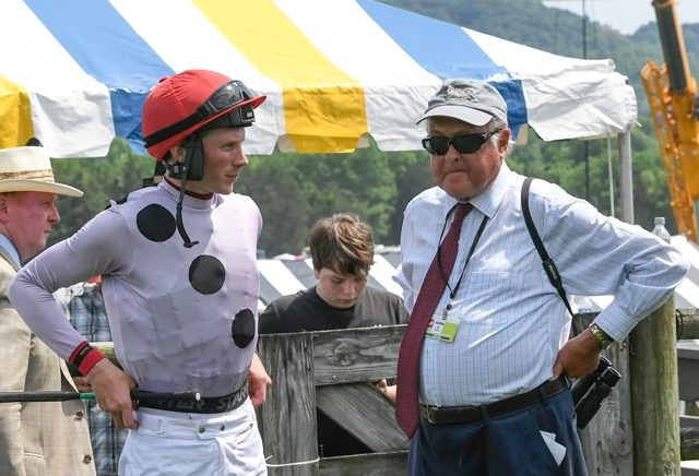 Trainer Jonathan Sheppard and Jockey Darren Nagle